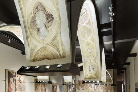 Nuova illuminazione per gli affreschi del museo cavalcaselle di